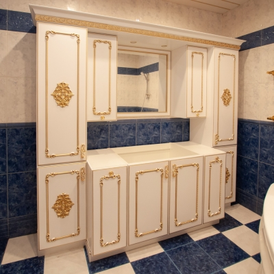 Тумба и шкафы Олимпия для ванной комнаты