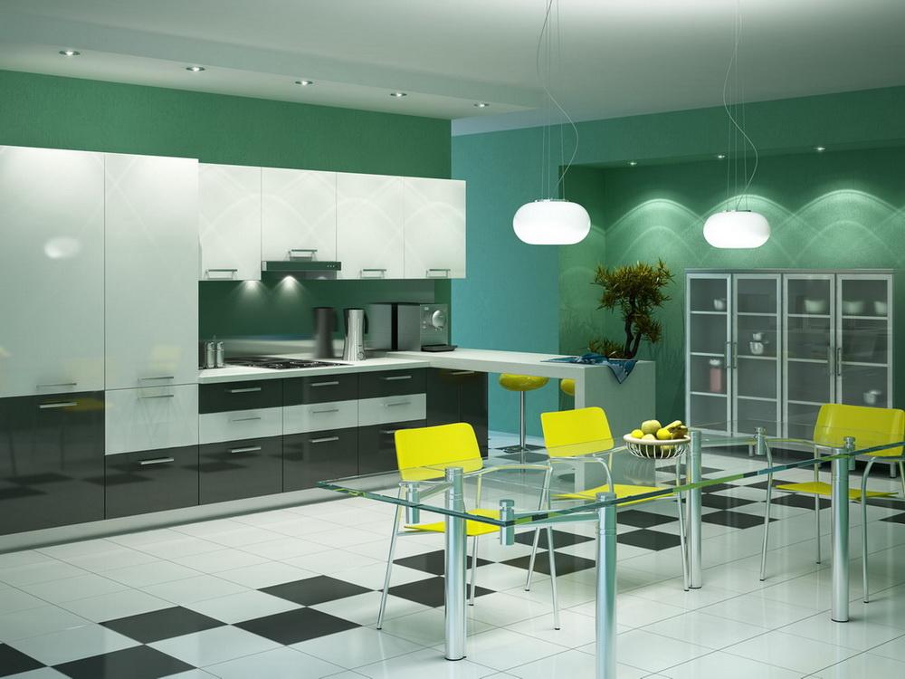 Белая кухня мираж в интерьере фото