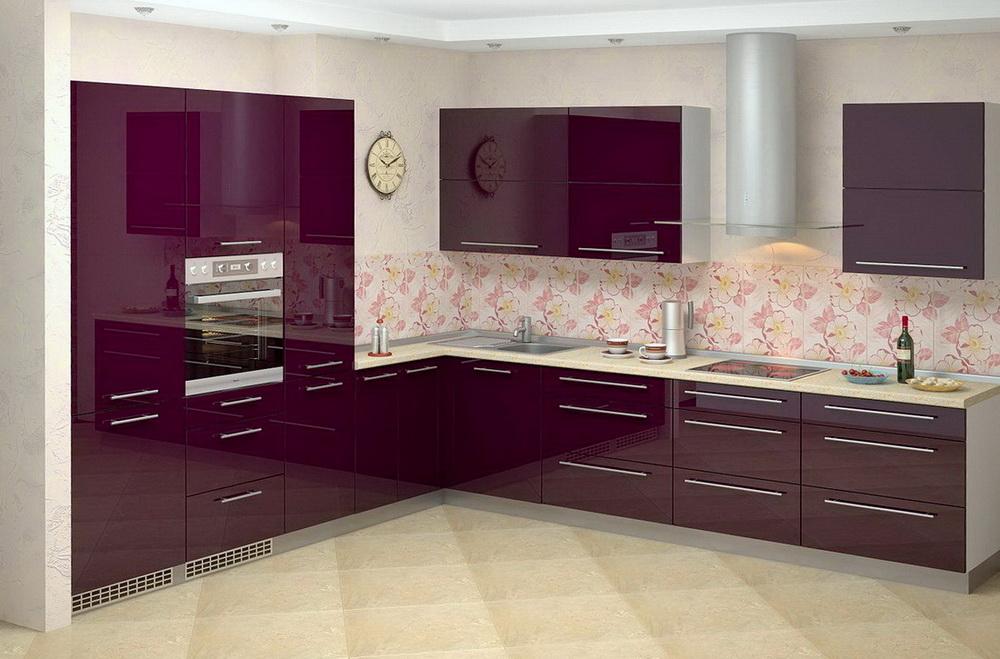 Кухни с глянцевыми фасадами фото